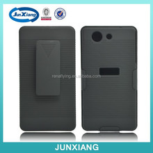 holster and shell case combo black for sony z3 mini