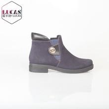 Cierres h1321-k89 las mujeres botas de suela plana botas de gamuza