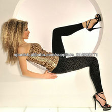 ML7548 Negro Medias Cheetah Wholesale fabricantes leggings