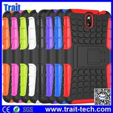 Dual-color Detachable 2 in 1 PC+TPU Hybrid Case with Kickstand for HTC Desire 610 Antiskid Case
