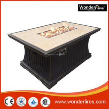 Outdoor fire pit table/patio heater/Fire glass/ball valve