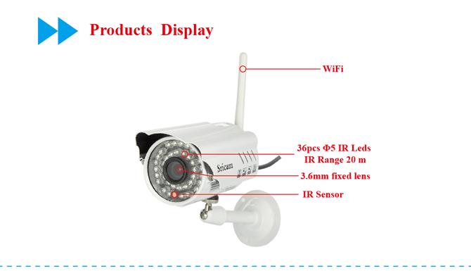 Two Year Warranty Sricam AP009 Hot Sale Waterproof IR CUT Night Vision P2P Outdoor IP Camera Wireless Wifi Outdoor IP Camera