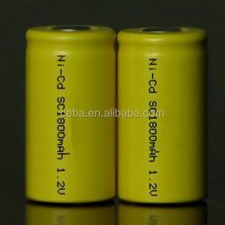 ni-cd sc1300mah rechargeable battery