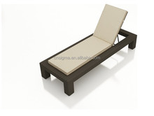2015 Sigma Best selling sunny garden pool side brown rattan sun loungers