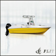China 8 persons powerful 115-200HP outboard engine Fiberglass Speed Boat for sale