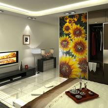 sala de estar medallón del mosaico de girasol de la artesanía de cristal del azulejo del mosaico mural