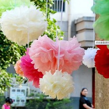 15pcs mixed size Tissue paper pom poms raw material for artificial flowers balls birthday Wedding decoration centerpieces A149