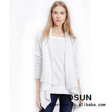 High quality shawl style women cardigan open front sweater pretty woman clothing