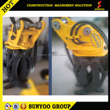 Chinese factory price hydraulic grapple stone grab for excavator