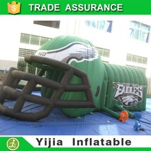 Best quality inflatable football tunnel inflatable helmet