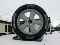 customize inflatable tire advertising with different size