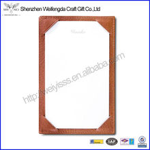 Personalized British Tan Traditional Leather Jotter Holder