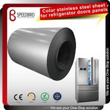 Fingerprint resistant color coated hairline finish stainless steel sheet for Refrigerator panels