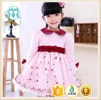 China factory price nice girl dress fashion design flower girls dresses 2015 new fashion korea casual print dress girl