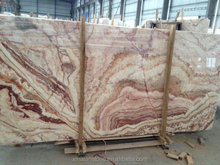 New China polished book match Red Dragon Onyx of Marble Slab