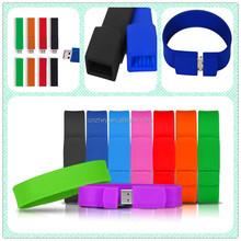 Hot!!Bulk cheap silicon usb bracelet,free custom logo usb stick,free samples