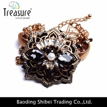2015 New black diamond flower or serpent bracelet chaîne bijoux arabie saoudite