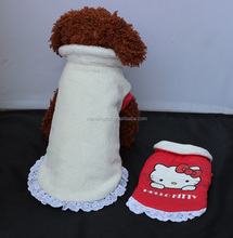 Cute girl clothing Warm Dog Clothes Hello Kitty wholesale