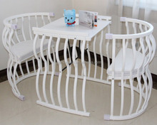 hotsale white oak wooden kid crib made in China
