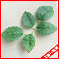 silk printing good quality artificial rose leaf wholesale