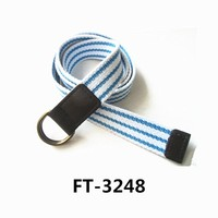 Mens/Boys Webbing Casual Canvas Military Belt With Double D Ring High Quality