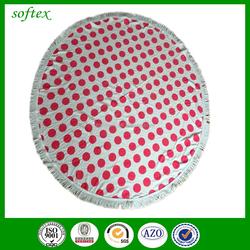 150cm diameter 100 cotton round towel polka dot