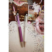 Pink White Crystal Pen NNY009
