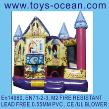 inflatable princess bouncy jumping castle, inflatable combo