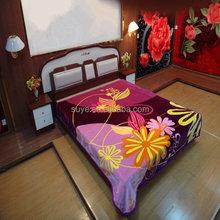 Hot sell branded queen Val raschel blanket