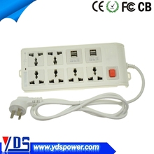 china alibaba 4 USB 10-25a eletric plug socket with 6 outlets
