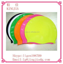 Adult Women Men Summer Rubber Silicone Swim Gel Swim Cap Flexible Durable Bathing Cap
