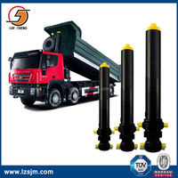 Truck front ending multi stage hydraulic floor jack cylinder