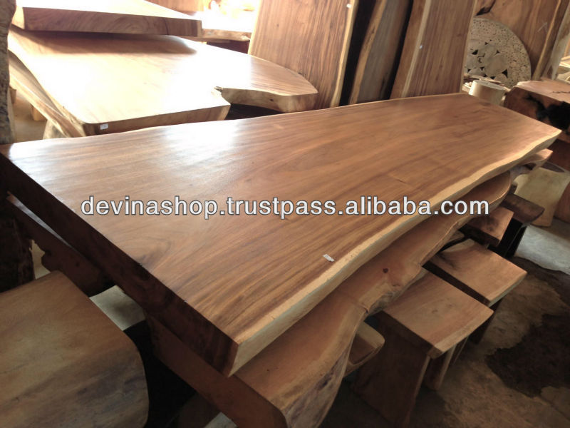 acacia wood solid slab wood dining table 3 meter buy natural acacia wood slab dining tables. Black Bedroom Furniture Sets. Home Design Ideas
