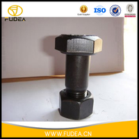 High strength different types nuts bolts for digger