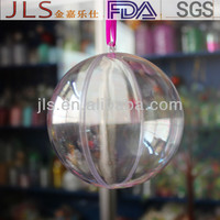 Hollow transparent ball for chewing gum packaging