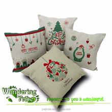 "Merry Christmas Gift Cushion Cover Bedding Set Pillow Case Santa Claus 18"" X 18"" decor pillows for kids room"