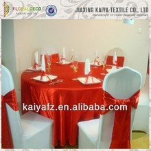 Fashion new design red cheap wholesale wedding table overlay