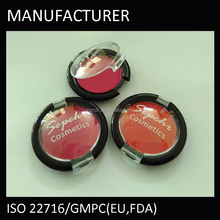Dry chemical powder orange color natural blush
