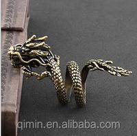 Unique style alloy plated dragon men's punk Rings