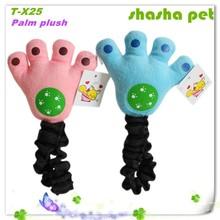 Factory wholesale Palm dog pet plush toys dog toys pet squeaker toys