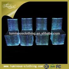 De fibra óptica de decoración del hogar luminoso partido del acontecimiento cubierta de asiento