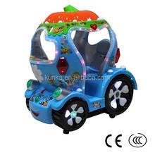 KUNKA Coin Operated Mechanical Pumpkin Cars Kiddie Rides