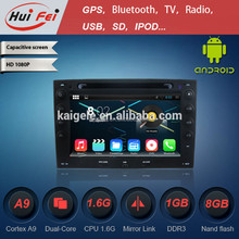 pure android car dvd touch screen gps for Renault 1024*600 pixel bluetooth obd dvr