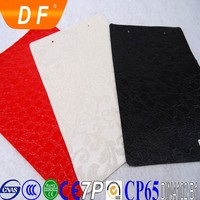 Knitted woven backing non woven suede backing fabric PVC aritificial leather