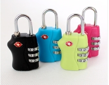 TSA338 Resettable 3 Digit Combination Padlock free shipping Suitcase Travel Lock TSA locks Luggage Padlock