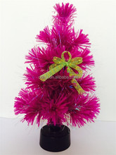 Pink Mini PVC Christmas Tree With Yellow Butterfly, Promotional Christmas Tree