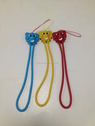 Cute animal silicone phone strap