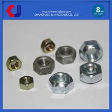Caldo delle vendite di fissaggio bulloni dadi produttore in cina, bullone di dimensioni standard e un dado, bullone zincato e dado