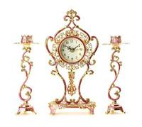 Modern Design Light Desktop Clock Fancy Metal Table Clock For Home Decor