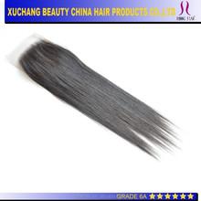 "16"" brazilian virgin hair cheap human hair lace closures Silky based closure"